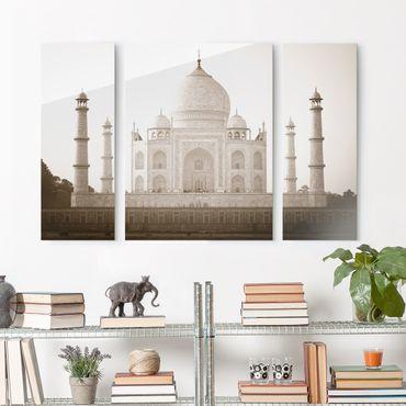Quadro in vetro - Taj Mahal - 3 parti