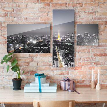 Quadro in vetro - Tokyo 3 parts - Collage a 3 parti