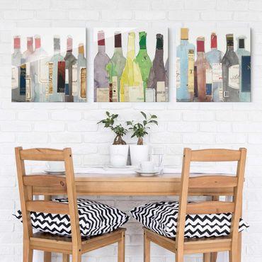 Quadro in vetro - Wine & Spirits Set I - 3 parti