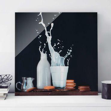 Quadro in vetro - Milk Composition - Quadrato 1:1