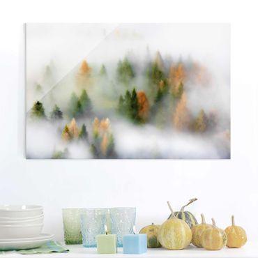 Quadro in vetro - Nube di foresta in autunno - Orizzontale 3:2