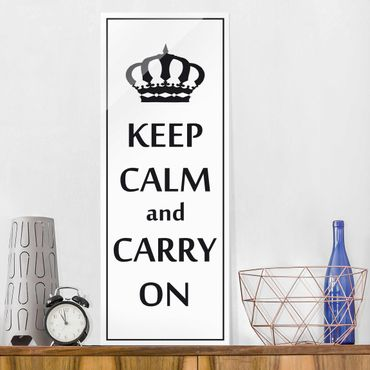 Quadro in vetro - No.RS69 Keep Calm - Pannello