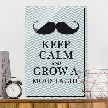 Quadro in vetro - No.26 Keep Calm and Grow a Moustache - Verticale 2:3