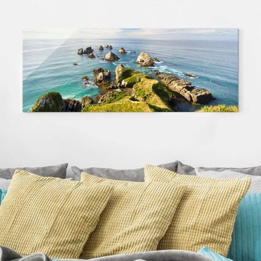 Quadro in vetro - Nugget Point In New Zealand - Panoramico