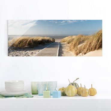 Quadro in vetro - Baltic beach - Panoramico
