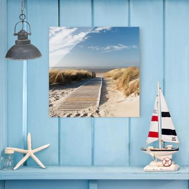 Quadro in vetro - Baltic beach - Quadrato 1:1