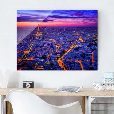 Quadro in vetro - Parigi di notte - Large 3:4