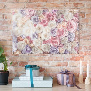 Quadro in vetro - Rose in pastello - Orizzontale 3:2