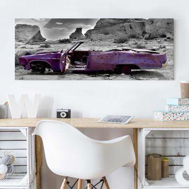 Quadro in vetro - Pink Cadillac - Panoramico
