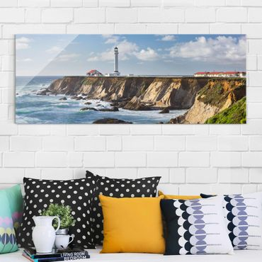 Quadro in vetro - Point Arena Lighthouse California - Panoramico