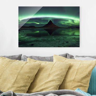 Quadro in vetro - Aurora polare in Islanda - Orizzontale 3:2