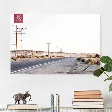 Quadro in vetro - Route 66 - On The Road - Orizzontale 3:2