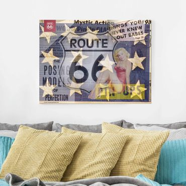 Quadro in vetro - Route 66 - pin-up posa - Large 3:4