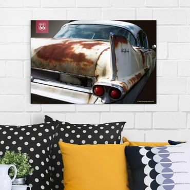 Quadro in vetro - Route 66 - Rusty Vintage Car - Orizzontale 3:2