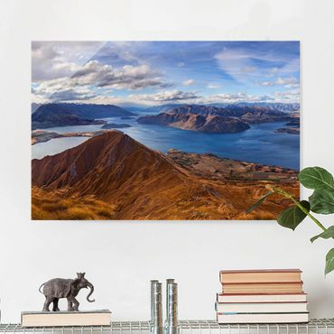 Quadro in vetro - Roys Peak in Nuova Zelanda - Orizzontale 3:2