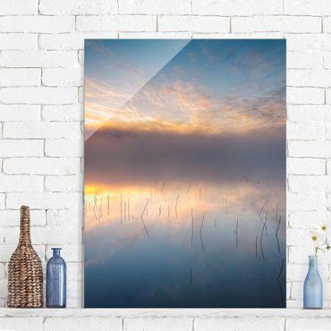 Quadro in vetro - Alba Lago svedese - Verticale 3:4