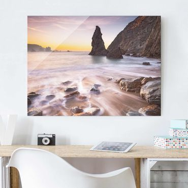 Quadro in vetro - Spanish beach at sunrise - Orizzontale 4:3