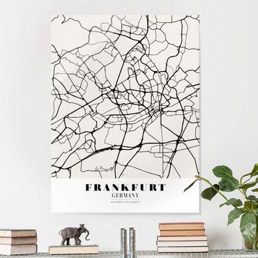 Quadro in vetro - Frankfurt City City Map - Classical - Verticale 3:4