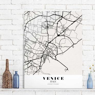 Quadro in vetro - Venice City Map - Classic - Verticale 3:4
