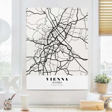 Quadro in vetro - Vienna City Map - Classic - Verticale 3:4