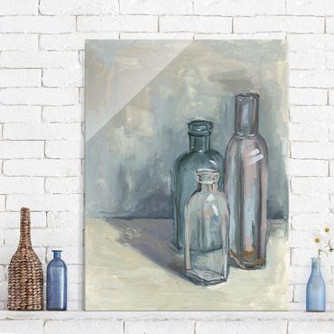 Quadro in vetro - Ancora Bottiglie Vita Con Vetro I - Verticale 3:4