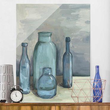 Quadro in vetro - Ancora Bottiglie Vita Con Vetro Ii - Verticale 3:4