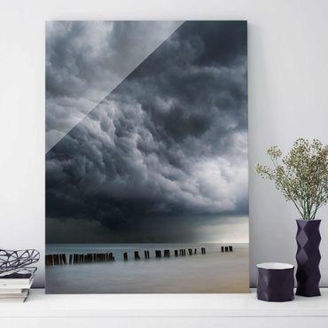 Quadro in vetro - Nubi di tempesta sul Mar Baltico - Verticale 3:4