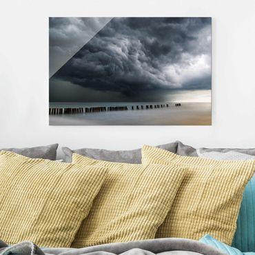 Quadro in vetro - Nubi di tempesta sul Mar Baltico - Orizzontale 3:2