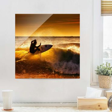Quadro in vetro - Sun, Fun and Surf - Quadrato 1:1