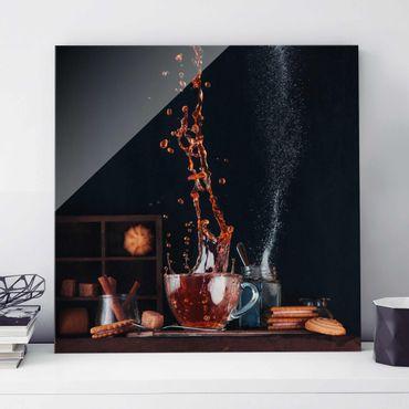 Quadro in vetro - Tea Composition - Quadrato 1:1