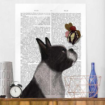 Quadro in vetro - Lettura Degli Animali - Terrier Con Ghiaccio - Verticale 3:4