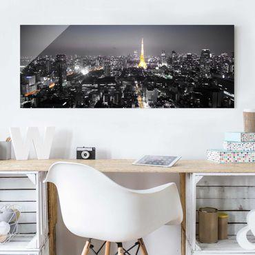 Quadro in vetro - Tokyo - Panoramico