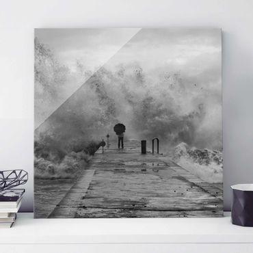 Quadro in vetro - Mare in Tempesta - Quadrato 1:1