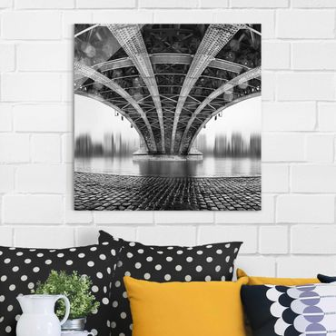 Quadro in vetro - Under The Iron Bridge - Quadrato 1:1