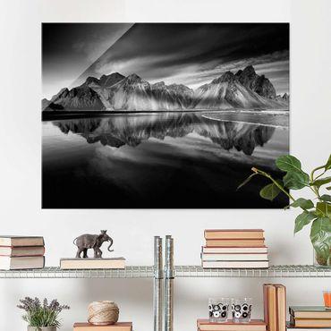 Quadro in vetro - Vesturhorn In Islanda - Large 3:4