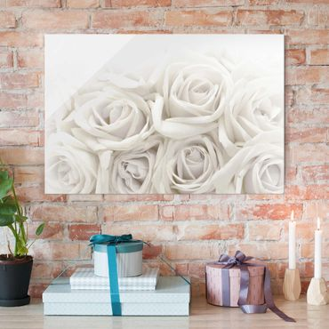 Quadro in vetro - Wedding Roses - Orizzontale 3:2