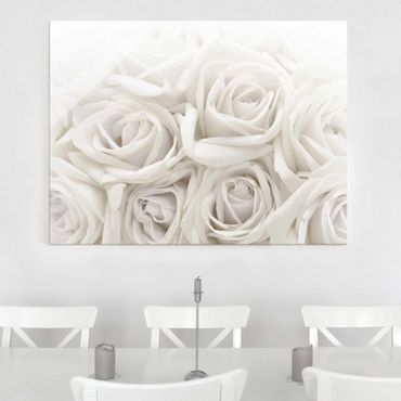 Quadro in vetro - Wedding Roses - Orizzontale 4:3