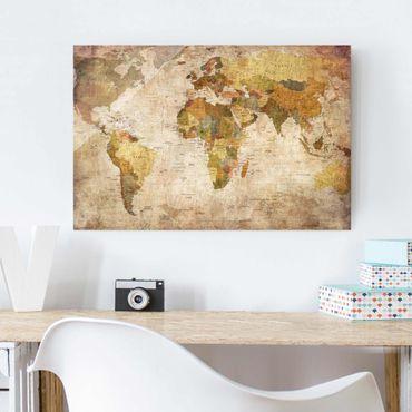 Quadro in vetro - World map - Orizzontale 3:2
