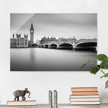 Quadro in vetro - Ponte di Westminster e il Big Ben - Orizzontale 3:2