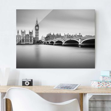 Quadro in vetro - Ponte di Westminster e il Big Ben - Large 3:4
