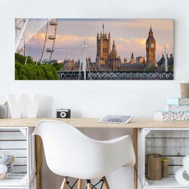Quadro in vetro - Westminster Palace London - Panoramico