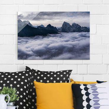 Quadro in vetro - Mare di nubi in Himalaya - Orizzontale 3:2