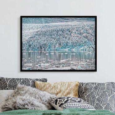 Poster con cornice - Ghiacciaio in Islanda