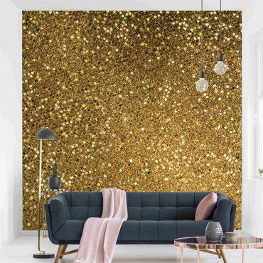 Carta da parati - Coriandoli glitterati in oro