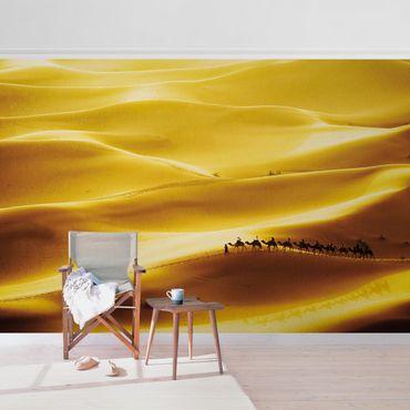 Carta da parati metallizzata - Dune dorate