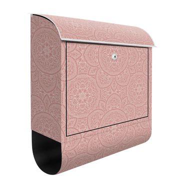 Cassetta postale - Grande decorazione mandala in rosa antico