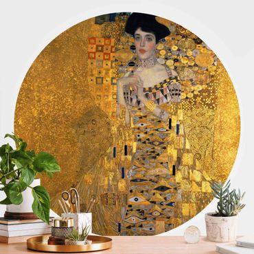 Carta da parati rotonda autoadesiva - Gustav Klimt - Ritratto di Adele Bloch-Bauer I