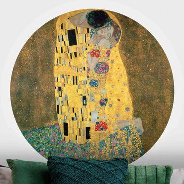 Carta da parati rotonda autoadesiva - Gustav Klimt - Il bacio