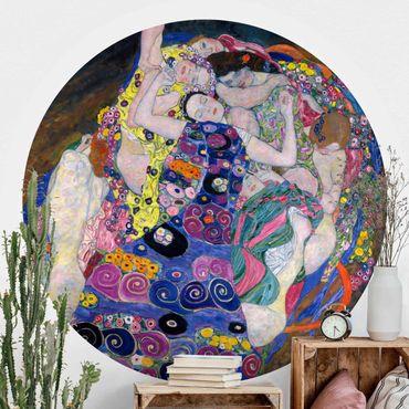 Carta da parati rotonda autoadesiva - Gustav Klimt - La Vergine