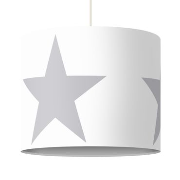 Lampadario design Large Gray Stars on White